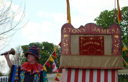 Getting ready to watch Punch & Judy