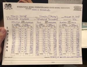 Doheny vs Iwasa Punch Stats