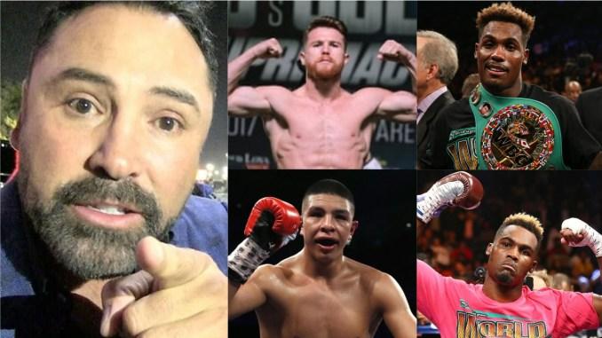 Oscar De La Hoya, Canelo Alvarez, Jermall Charlo, Jaime Munguia and Jermell Charlo