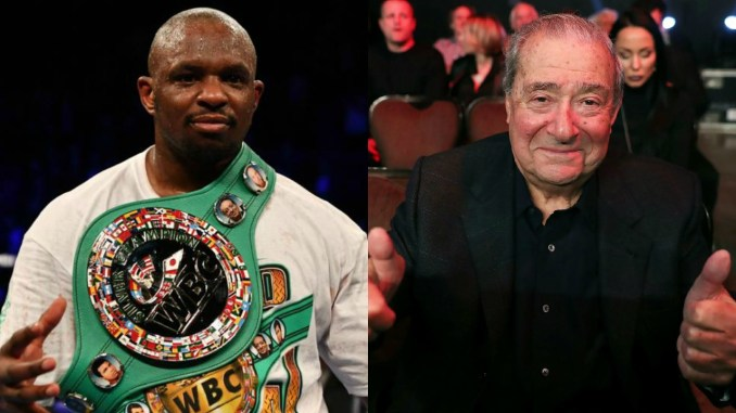 Dillian Whyte and Bob Arum