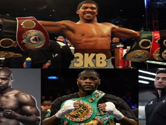 Anthony Joshua, Daniel Dubois, Deontay Wilder and Tony Yoka.