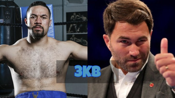 Joseph Parker and Eddie Hearn