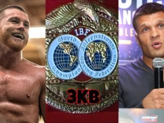 Canelo Alvarez, IBF Belt and Sergiy Derevyanchnko