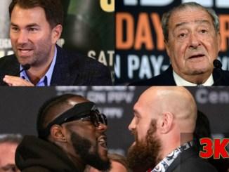 Eddie Hearn, Bob Arum and Deontay Wilder vs Tyson Fury face-off