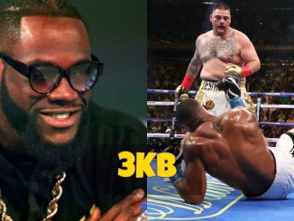 Deontay WIlder and Andy Ruiz Knockdown of Anthony Joshua