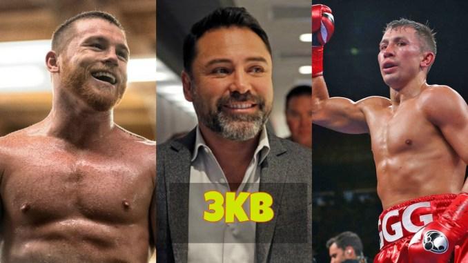 Canelo Alvarez, Oscar De La Hoya and Gennady Golovkin