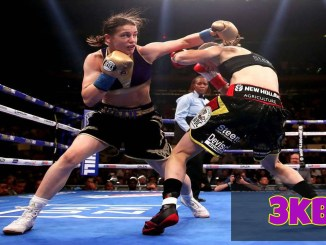 Taylor attacking Persoon in their unification bout