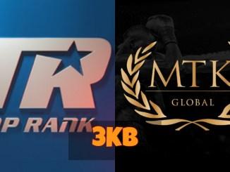 Top Rank logo and MTK Global logo