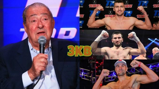 Bob Arum, Oleksandr Gvozdyk, Artur Beterbiev and Sergey Kovalev
