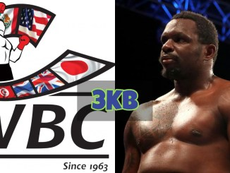 WBC logo and Dillian Whyte