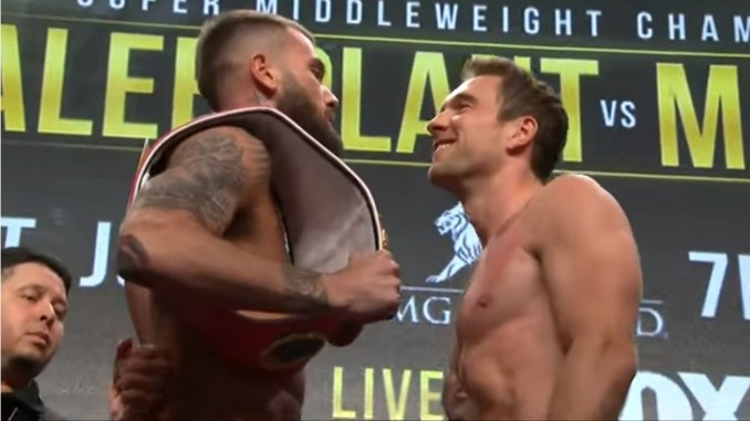 Caleb Plant vs Mike Lee Face-off