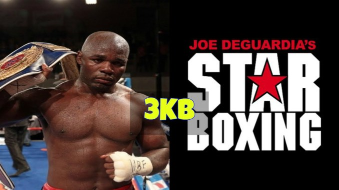 Carlos Takam and Star Boxing Promotions logo