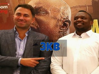Eddie Hearn and Dillian Whyte.