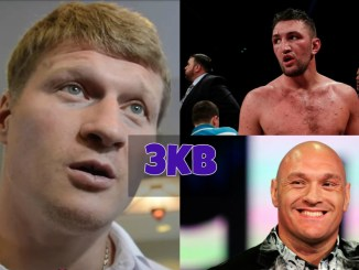 Alexander Povetkin, Hughie Fury and Tyson Fury
