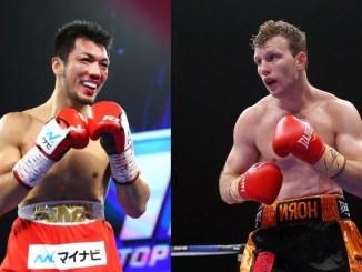Ryota Murata, Jeff Horn (right)