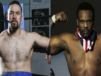Joseph Parker, Dereck Chisora (right)