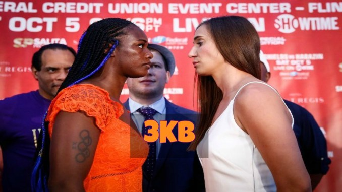 Claressa Shields and Ivana Habazin Face-Off.