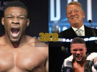 Jarrell Miller, Frank Warren and Joe Joyce