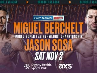 Miguel Berchelt vs Jason Sosa Banner.
