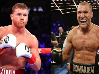 Canelo Alvarez, Sergey Kovalev (right)