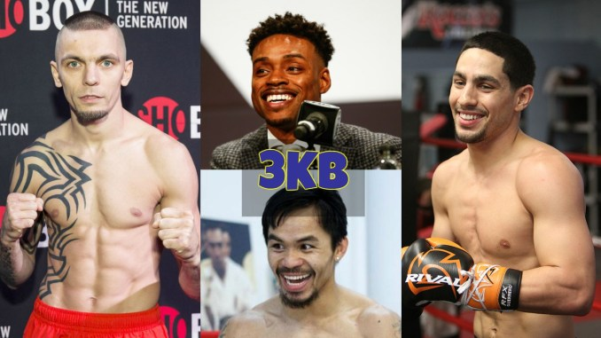 Ivan Redkach, Errol Spence Jr, Manny Pacquiao and Danny Garcia