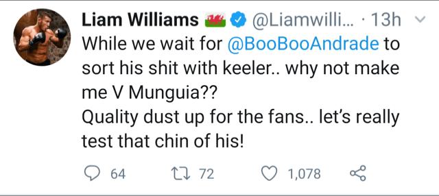 Liam Williams via Twitter