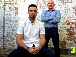 Josh Taylor and Barry McGuigan (back)