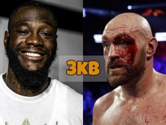 Deontay Wilder and Tyson Fury Cut