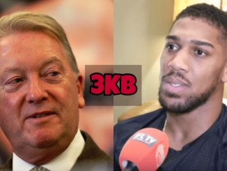 Frank Warren (left), Anthony Joshua