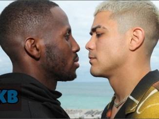Tevin Farmer and Joseph Diaz face-off