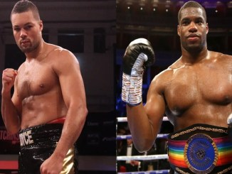 Joe Joyce (left), Daniel Dubois