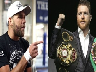 Billy Joe Saunders (left), Saul Canelo Alvarez