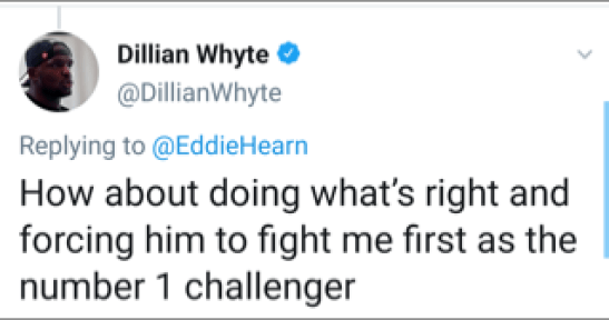 Dillain Whyte Wants His Shot At Tyson Fury As The Mandatory