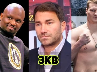 Dillian Whyte, Eddie Hearn and Alexander Povetkin