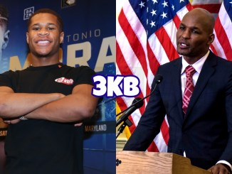 Devin Haney (left), Bernard Hopkins