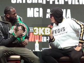Deontay Wilder (left), Tyson Fury