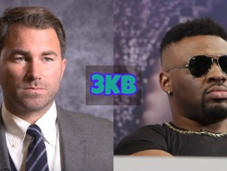 Eddie Hearn and Jarrell Miller