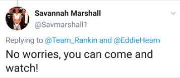Savannah Marshall Responds via Twitter