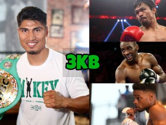 Mikey Garcia (left), Manny Pacquiao, Terence Crawford, Errol Spence Jr.