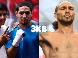 Angel Garcia and Danny Garcia (left), Keith Thurman