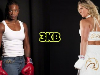 Claressa Shields and Marie-Eve Dicaire
