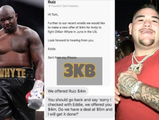 Dillian Whyte, Eddie Hearn's offer to Andy Ruiz for Dillian Whyte Fight and Andy Ruiz