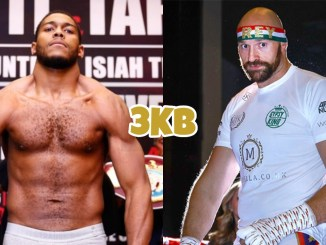 Michael Hunter (left), Tyson Fury