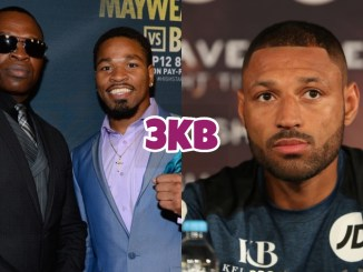 Kenny Porter with Shawn Porter (left), Kell Brook