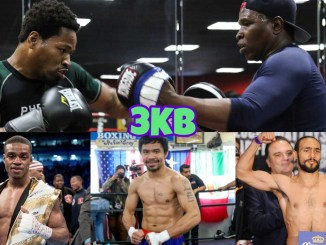 Shawn Porter & Kenny Porter (top), Errol Spence Jr, Manny Pacquiao, Keith Thurman (left to right)