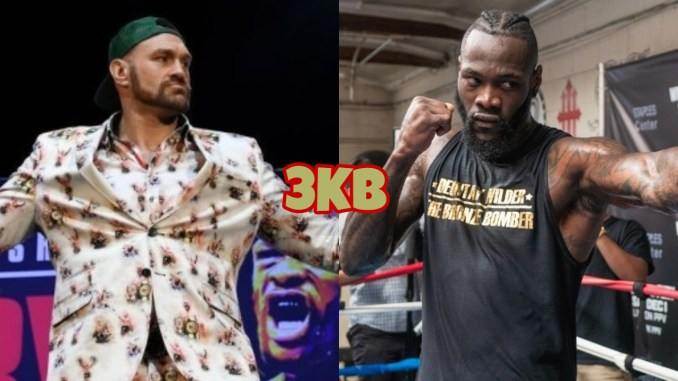 Tyson Fury (left), Deontay Wilder