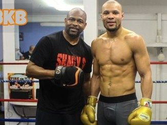 Roy Jones Jr (left) with Chris Eubank Jr