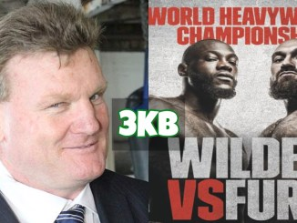 Dean Lonergan and Deontay Wilder vs Tyson Fury Fight Poster