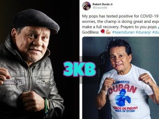 Roberto Duran Jr updates on his father Roberto Duran's condition