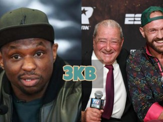 Dillian Whyte, Bob Arum and Tyson Fury